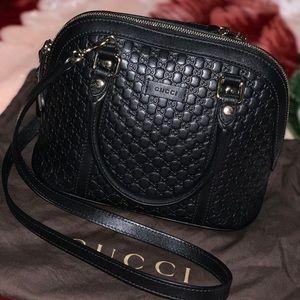 Black guccisima dome satchel